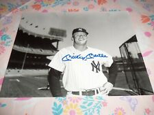VINTAGE ROOKIE **MICKEY MANTLE** NY YANKEES HOF HAND SIGNED AUTOGRAPHED LOOK!