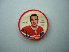 1961/62 SALADA FOODS / SHIRRIFF PLASTIC NHL HOCKEY COIN #106 TOM JOHNSON NICE!!