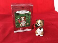 Hallmark Sheltie Dog Puppy Love Keepsake Christmas Ornament 2001 Collector Serie