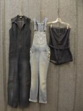 Estate 3 Pc Clothing Lot Womens S/M Denim Jumper Bib Overalls Romper Hipster