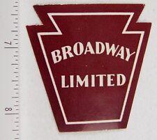 Vintage Broadway Limited Keystone Poster Stamp Luggage Label P312
