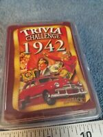 Flickback Trivia Challenge 1942Playing Cards complete deck plastic case