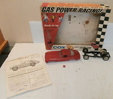 Cox Red Corvette Sting Ray Gas Powered 1/20 Scale Car w/Orig.Box & Instructions