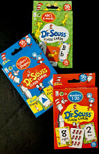 Dr. Seuss Flash Cards-NUMBERS, ALPHABET & WORDS, And COLORS & SHAPES, Set/3-NEW