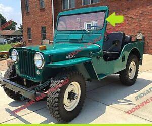 FIXED GLASS WINDSHIELD WEATHER STRIP W/LOCK STRIP JEEP WILLYS CJ3A CJ3B 1949-71