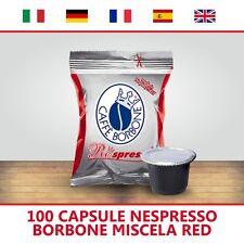100 CAPSULE COMPATIBILI NESPRESSO BORBONE RESPRESSO MISCELA RED ITALIANFEEL