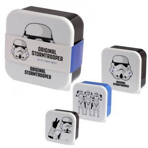 Star Wars  Stormtrooper  3er Set Lunchbox Frühstücksdose Brotdose Snackbox