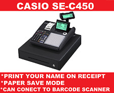 New Casio se-c450 Cash Till Register Large Display Shop Electronic Money Drawer