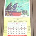 Vtg 1970 Firefighter Calendar NFPA St Charles MO 29x43 Always Ready Griffith LB