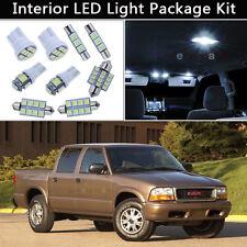 9PCS Bulbs White LED Interior Car Lights Package kit Fit 1998-2003 GMC Sonoma J1