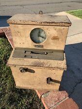 Antique Vintage Oak Wood Simplex Time Clock Recorder