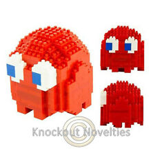 Pac-Man Ghost Pixel Bricks Red Video Game Arcade Ghost Shaped Blinky Build Toy