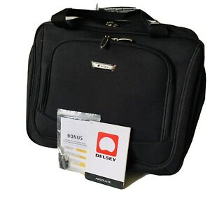 DELSEY Absolute Wheeled Trolley Tote Carry On Business Computer Travel Case NOS