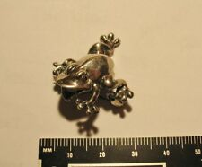 Tree Frog Pin Vintage Sterling Silver