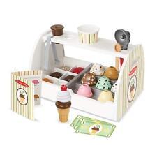 Melissa & Doug Wooden Scoop & Serve Ice Cream Counter 28 Piece Toy Playset
