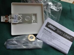 Juno Lighting R21WH End Feed Connector and Outlet Box Cover, White