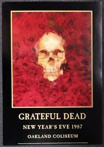 GRATEFUL DEAD Oakland Coliseum 1987 CONCERT POSTER NUMBERED Hugh Brown