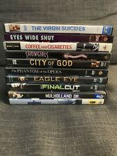 10 Dvd Movie Lot Coffee and Cigarettes, Eyes Wide Shut, Virgin Suicides