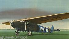 Large Postcard Aircraft/Aviation KLM Fokker F.VII b