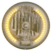 """7"""" DIA. CRYSTAL HEADLIGHT BULB WITH 34 AUXILIARY LED - AMBER, Car, Truck, Ea"""