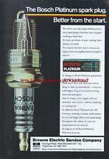 Bosch Platinum Spark Plug 1988 Magazine Advert #3932