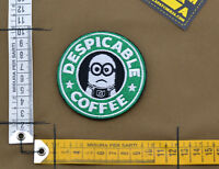 "Ricamata / Embroidered Patch ""Despicable Coffee"" with VELCRO® brand hook"