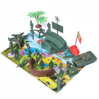 21Pcs Plastic Model 5cm Soldiers Action Figures Soldiers Sand Table Toys  LE