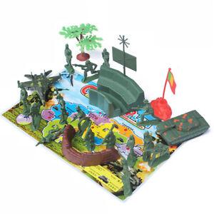 21Pcs Plastic Model 5cm Soldiers Action Figures Soldiers   Sand Table Toy3.AU