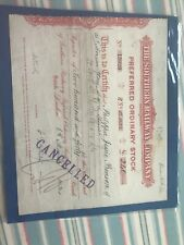 1924 Stock Certificate For The Southern Railway Company