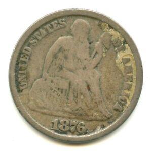 1876-CC Liberty Seated Dime