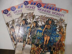 Wonder Woman 2nd Series Annual  #1 1988 DC -  lot of 4 comics