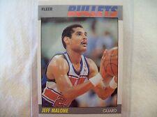 1987 Fleer Basketball Jeff Malone #67  Card
