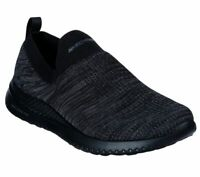 Skechers Wide Fit Black shoe Men Memory Foam Comfort Slipon Casual Comfort 51909
