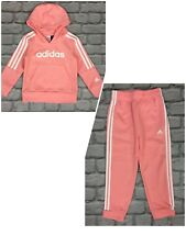 ADIDAS GIRLS CORE PINK FLEECE HOODIE / JOGGERS *SOLD SEPARATELY* CHILDRENS AD