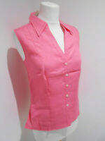 BNWT Marks & Spencer pink linen fitted blouse shirt top 14 NEW smart casual