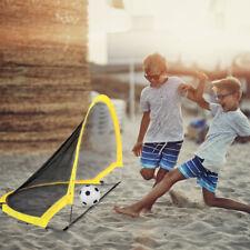 Portable Childrens Mini Football Goal Post Twin Set Kids Practice Soccer Goals