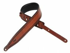 Levy's Tooled Leather Guitar Strap Stitch Design, Brown, M17T06-BRN