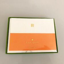 """Kate Spade New York Designer Dipped """"R"""" Initial Card Set, NIP"""