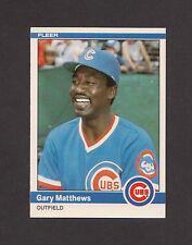 1984 Fleer Update #U-77 GARY MATTHEWS Cubs MINT