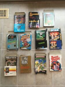 NINTENDO ENTERTAINMENT SYSTEM*LOT OF 10 BOXES (NO GAME PAKS)*INSTRUCTION MANUALS