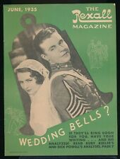 DICK POWELL and RUBY KEELER Cover of The REXALL Magazine June 1935 EX