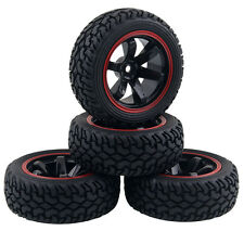 Rubber Tires 701A-8019 Wheels Fit RC HSP HPI 1:10 On-Road Refit 1:16 Rally Car