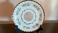 Wood & Sons England Alpine White Scalloped Dinner Plate