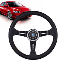 330MM Black 6 Bolt Aluminum Racing Style Steering Wheel Sports Drifting Wheel