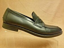 Coach New York Men Black Slip On Leather Penny Loafers Dress Moc Toe Shoes Sz 11