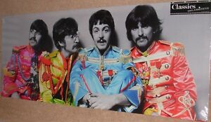 "Beatles Sgt Pepper Print 24"" x 10"" Canvas print on a wooden stretcher frame"