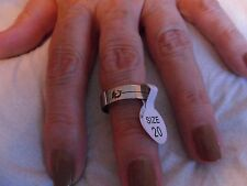 New ~ Unisex ~ Stainless Steel ~ Ring ~ Size U (20 mm)