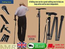 Easy Folding Aluminium Walking Stick Light weight for Disabled + Uk seller