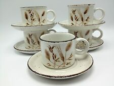 Stonehenge Midwinter Wild Oats Set 10 5 cups mugs saucers England Wedgwood