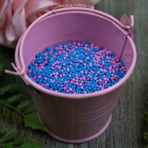 Blue & Pink 100s & 1000s Sugar Sprinkles Cupcake Decorations